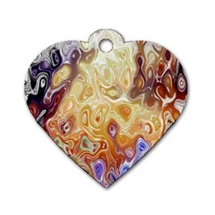 Space Abstraction Background Digital Computer Graphic Dog Tag Heart (one Side)
