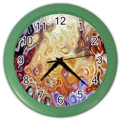 Space Abstraction Background Digital Computer Graphic Color Wall Clocks