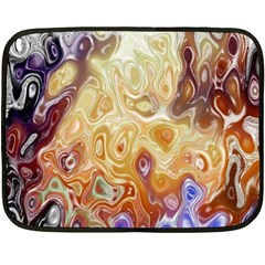 Space Abstraction Background Digital Computer Graphic Double Sided Fleece Blanket (mini)