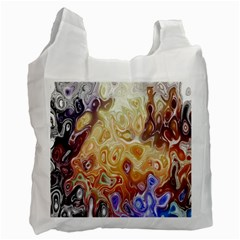 Space Abstraction Background Digital Computer Graphic Recycle Bag (one Side)