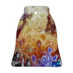 Space Abstraction Background Digital Computer Graphic Bell Ornament (two Sides)