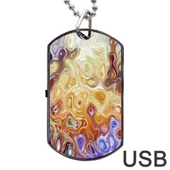 Space Abstraction Background Digital Computer Graphic Dog Tag Usb Flash (one Side)