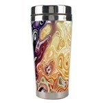 Space Abstraction Background Digital Computer Graphic Stainless Steel Travel Tumblers Left