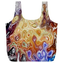 Space Abstraction Background Digital Computer Graphic Full Print Recycle Bags (L)