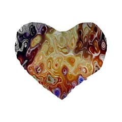 Space Abstraction Background Digital Computer Graphic Standard 16  Premium Flano Heart Shape Cushions