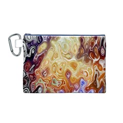 Space Abstraction Background Digital Computer Graphic Canvas Cosmetic Bag (M)