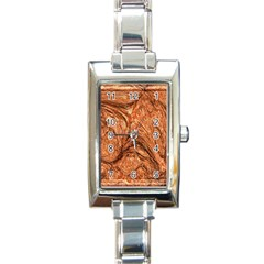 3d Glass Frame With Fractal Background Rectangle Italian Charm Watch
