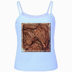 3d Glass Frame With Fractal Background Baby Blue Spaghetti Tank
