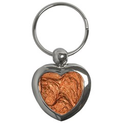 3d Glass Frame With Fractal Background Key Chains (heart)