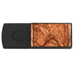 3d Glass Frame With Fractal Background USB Flash Drive Rectangular (1 GB)