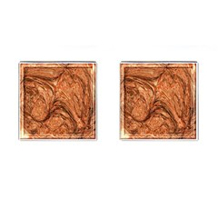 3d Glass Frame With Fractal Background Cufflinks (square)