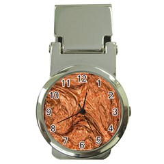 3d Glass Frame With Fractal Background Money Clip Watches