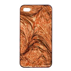 3d Glass Frame With Fractal Background Apple iPhone 4/4s Seamless Case (Black)