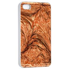 3d Glass Frame With Fractal Background Apple iPhone 4/4s Seamless Case (White)
