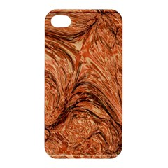 3d Glass Frame With Fractal Background Apple Iphone 4/4s Premium Hardshell Case
