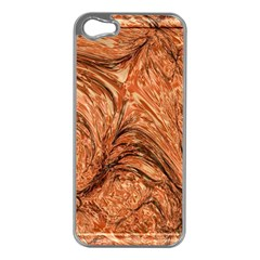 3d Glass Frame With Fractal Background Apple iPhone 5 Case (Silver)