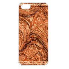3d Glass Frame With Fractal Background Apple iPhone 5 Seamless Case (White)