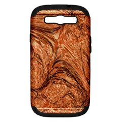3d Glass Frame With Fractal Background Samsung Galaxy S Iii Hardshell Case (pc+silicone)
