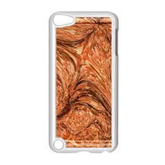 3d Glass Frame With Fractal Background Apple iPod Touch 5 Case (White)
