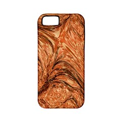 3d Glass Frame With Fractal Background Apple Iphone 5 Classic Hardshell Case (pc+silicone)