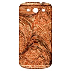 3d Glass Frame With Fractal Background Samsung Galaxy S3 S Iii Classic Hardshell Back Case