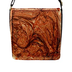 3d Glass Frame With Fractal Background Flap Messenger Bag (L)