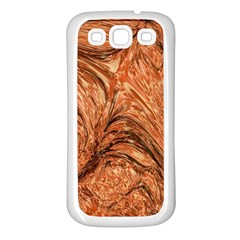 3d Glass Frame With Fractal Background Samsung Galaxy S3 Back Case (White)
