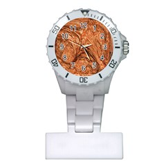 3d Glass Frame With Fractal Background Plastic Nurses Watch