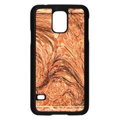 3d Glass Frame With Fractal Background Samsung Galaxy S5 Case (Black)