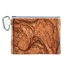 3d Glass Frame With Fractal Background Canvas Cosmetic Bag (L)