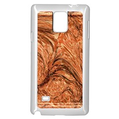 3d Glass Frame With Fractal Background Samsung Galaxy Note 4 Case (White)