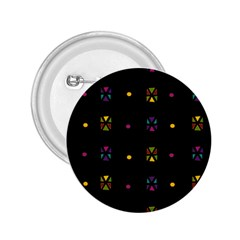 Abstract A Colorful Modern Illustration Black Background 2.25  Buttons
