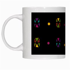 Abstract A Colorful Modern Illustration Black Background White Mugs