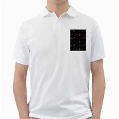 Abstract A Colorful Modern Illustration Black Background Golf Shirts