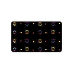 Abstract A Colorful Modern Illustration Black Background Magnet (name Card)