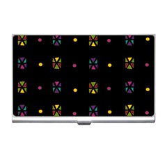 Abstract A Colorful Modern Illustration Black Background Business Card Holders