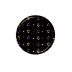 Abstract A Colorful Modern Illustration Black Background Hat Clip Ball Marker (4 Pack)