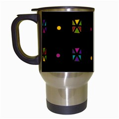 Abstract A Colorful Modern Illustration Black Background Travel Mugs (white)