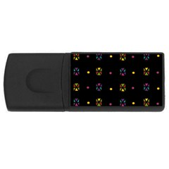 Abstract A Colorful Modern Illustration Black Background Usb Flash Drive Rectangular (4 Gb)