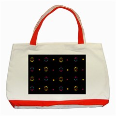 Abstract A Colorful Modern Illustration Black Background Classic Tote Bag (red)