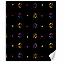 Abstract A Colorful Modern Illustration Black Background Canvas 8  X 10