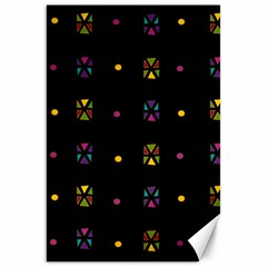 Abstract A Colorful Modern Illustration Black Background Canvas 20  X 30