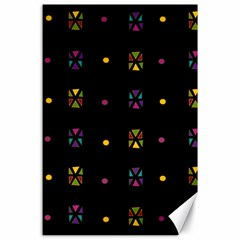 Abstract A Colorful Modern Illustration Black Background Canvas 24  X 36