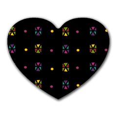Abstract A Colorful Modern Illustration Black Background Heart Mousepads