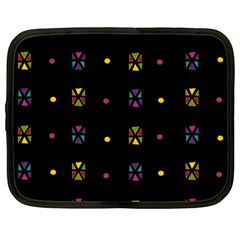 Abstract A Colorful Modern Illustration Black Background Netbook Case (large)