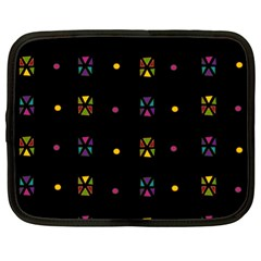 Abstract A Colorful Modern Illustration Black Background Netbook Case (xl)