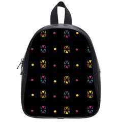 Abstract A Colorful Modern Illustration Black Background School Bags (small)