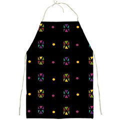 Abstract A Colorful Modern Illustration Black Background Full Print Aprons