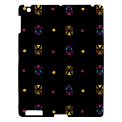 Abstract A Colorful Modern Illustration Black Background Apple Ipad 3/4 Hardshell Case
