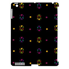 Abstract A Colorful Modern Illustration Black Background Apple Ipad 3/4 Hardshell Case (compatible With Smart Cover)